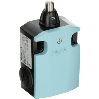 Siemens 3SE5 122 0CC02 International Limit Switch Complete Unit, Rounded Plunger, 56mm Metal Enclosure, High Grade Steel Plunger, 3mm Overtravel, Snap Action Contacts, 1 NO + 1 NC Contacts