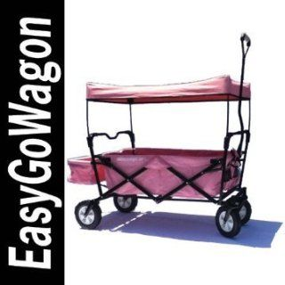 Childrens Red Pull Along Wagon. Unique Folding Design is more portable than Red Flyer. Fits in trunk of standard car. Made by EasyGoWagon. Sports & Outdoors