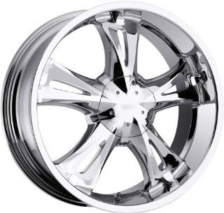 23x9 Milanni Bitchin Chrome Wheel Rim 5x139.7 (5x5.5) +18mm Offset 110mm Hub Bore Automotive