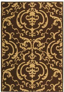 Safavieh Courtyard Collection CY2663 3409 Chocolate and Natural Indoor/Outdoor Area Rug, 2 Feet by 3 Feet 7 Inch   Large Rugs For Kids Rooms