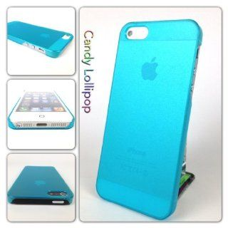 USA Apple Iphone 5 Matte Transparent Crystal Candy Lollipop Cover Case   Blue