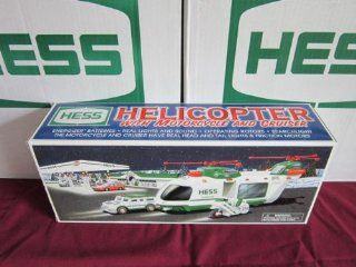 The Hess Toy Truck Helicopter with Motorcycle and Cruiser, Limited Release 2001 Toys & Games