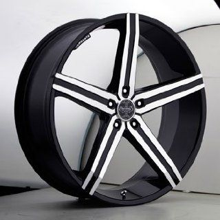 "20"" Wheels Rims Versante Ve228 Black Machined Face 5 Spoke 5x114.3 5x120 5x135 5x139.7 Automotive"