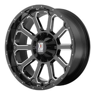 20x12 KMC XD Bomb (Gloss Black w/ Milled Accents) Wheels/Rims 6x135/139.7 (XD80621267344N) Automotive
