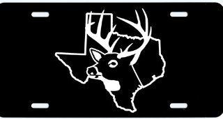 "1 , License Plate, "" TEXAS BUCK "", is a, Computer Cut, White, Vinyl, DECAL , Installed , on a, Black Coated, Aluminum, Car Plate, the, Novelty, Front Tag, has a, BUCK, and, State Outline, Car Tag, #00043TEXAS DEER,,,SHIPPED USPS"