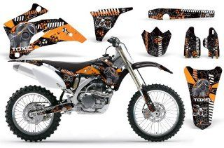 Toxicity AMRRACING MX Graphics decal kit fits Yamaha YZ250F YZ450F (2006 2009) Orange Black BG Automotive