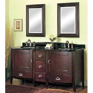 "Collage Bath Double Vanity   Fairmont Designs Bathroom Vanity 2 157 V24 157 DB12 61 ""W x 33 1/2 ""H"