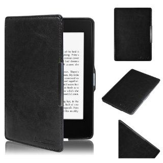 Ultra Slim Leather Case / Cover for New  Kindle Paperwhite / Kindle Paperwhite 3G with Built in Magnet for Sleep / Wake Feature, Includes Screen Protector   Black Computers & Accessories