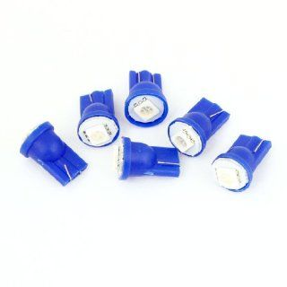6 Pcs T10 194 168 W5W Wedge Blue 5050 1 SMD LED 12V Dashboard Light Bulbs for Car Automotive