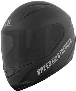 Speed & Strength SS1500 Solid Helmet , Distinct Name Off The Chain Matte Black, Primary Color Black, Helmet Type Full face Helmets, Helmet Category Street, Size Lg, Gender Mens/Unisex 875683 Automotive