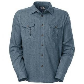 The North Face Grayling Shirt   Long Sleeve   Men's China Blue Heather, S Clothing
