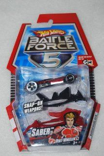 Hot Wheels Battle Force 5 164 Scale Die Cast Car Saber with Armor Toys & Games