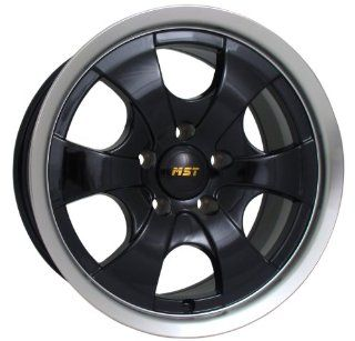 16x8 MST 810 (Gloss Black w/ Machined Lip) Wheels/Rims 8x165.1 (810 6882) Automotive