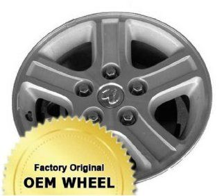 DODGE RAM 1500 17x8 5 SPOKE Factory Oem Wheel Rim  MACHINED FACE SILVER   Remanufactured Automotive