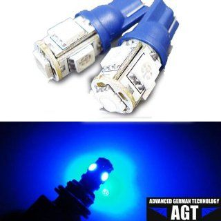 AGT Brand 4x 194 168 5 SMD Blue High Power LED Car Lights Bulb Automotive