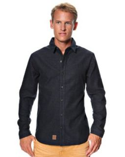 Anerkjendt Men's 'Meir' Long sleeved Shirt Small Black Clothing
