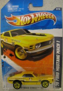 Hot Wheels 2011 '70 Ford Mustang Mach 1 #169 YELLOW HW Main Street Toys & Games