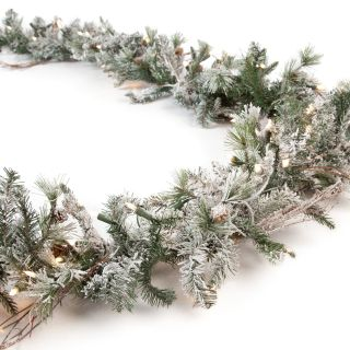 9 ft. Frosted Whistler Fir Pre Lit Garland   Christmas Garland
