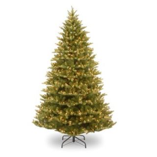 7.5 ft. Feel Real Normandy Fir Hinged Pre Lit Christmas Tree   Christmas Trees