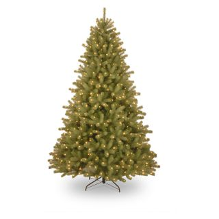 7.5 ft. Feel Real Lakewood Spruce Hinged Pre Lit Christmas Tree   Christmas Trees