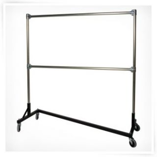 Heavy Duty Steel 4 Foot Long Z Rolling Rack   Closet Organizers