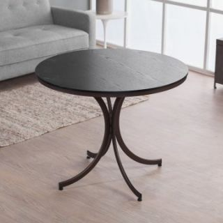 Meco Innobella Destiny 38 in. Round Wood Folding Table   Chocolotto   Dining Tables