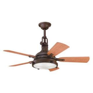 Kichler 310101TZP Hatteras Bay 44 in. Indoor/Outdoor Ceiling Fan   Tannery Bronze   Outdoor Ceiling Fans