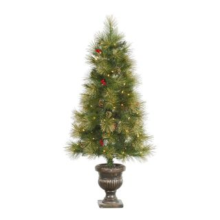 Vickerman 4.5 ft. Gold Glitter Pine Pre Lit Christmas Tree   Christmas Trees