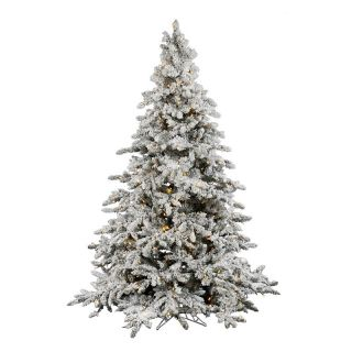 Vickerman 4.5 ft. Flocked Utica Fir Pre lit Italian LED Christmas Tree   Christmas Trees