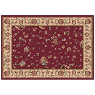 Dynamic Rugs Radiance Collection 47 x 24 Hearth Rug Red Ryian   Hearth Rugs