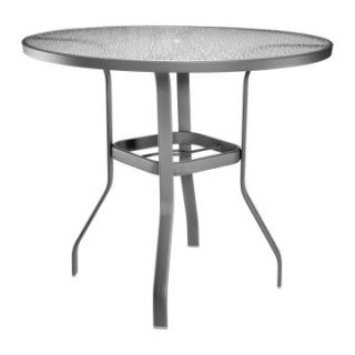 Homecrest Glass Top 48 in. Round Bar Height Dining Table   Patio Tables