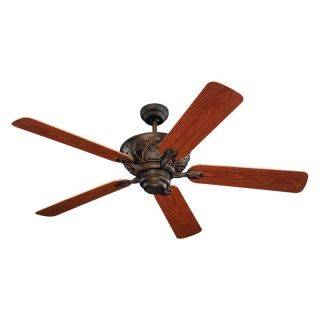 Monte Carlo 5BY52RB Bayshore 52 in. Indoor / Outdoor Ceiling Fan   Roman Bronze   ENERGY STAR   Outdoor Ceiling Fans