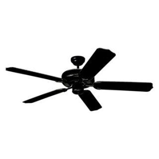 Monte Carlo 5WF52BK Weatherford 52 in. Indoor / Outdoor Ceiling Fan   Matte Black   ENERGY STAR   Outdoor Ceiling Fans