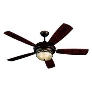 Monte Carlo 5ED56RBD Edwardian 56 in. Indoor / Outdoor Ceiling Fan   Roman Bronze   Outdoor Ceiling Fans