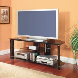 Bush   Segments Cameron 57 Inch Wide TV Stand in High Gloss Black   TV Stands