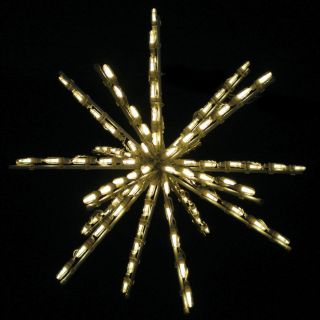 24 Inch Warm White One Color LED Starburst   100 Bulbs   Set of 3   Christmas Lights
