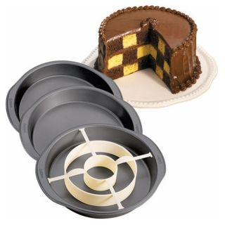 Wilton Non Stick Checkerboard Cake Pan Set   Brownie & Cake Pans
