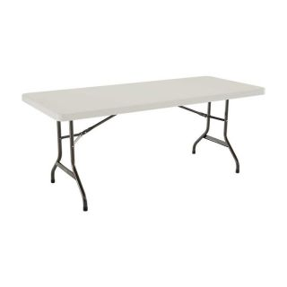 Lifetime 6 ft. Rectangle Commercial Folding Table   White   Banquet Tables