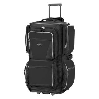 Travelers Club 29 in. 6 Pocket Rolling Upright Duffel Bag   Black   Sports & Duffel Bags