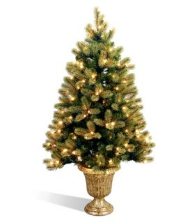 Downswept Douglas Fir Entrance Full Pre lit Christmas Tree with Feel Real Tips   Christmas Trees