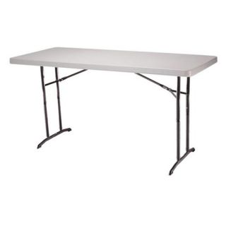 Lifetime 6 ft. Rectangle Commercial Adjustable Height Folding Table  22 Pack   Daycare Tables & Chairs