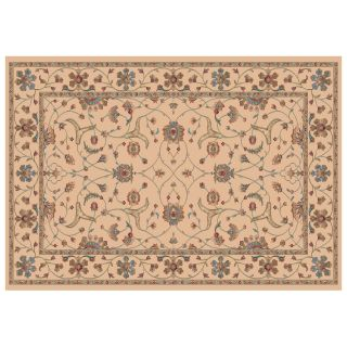 Dynamic Rugs Radiance Collection 47 x 24 Hearth Rug Creme Brava   Hearth Rugs