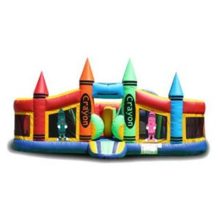 EZ Inflatables Crayon Toddler Bounce House   Commercial Inflatables
