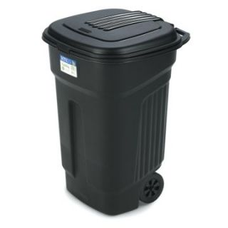 Semco 35 Gallon Injection Molded Square Trash Can with Wheels   Case Pack of 5   Trash Cans