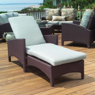 Anacara Atlantis All Weather Wicker Adjustable Chaise Lounge   Wicker Chairs & Seating