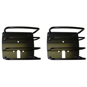 1987 2010 Jeep Wrangler (JK) Tail Light Guard   Rugged Ridge, Direct fit, Includes installation instructions and mounting hardware., Polished