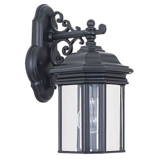 Sea Gull Hill Gate Outdoor Hanging Wall Lantern   13.5H in. Black   Outdoor Wall Lights