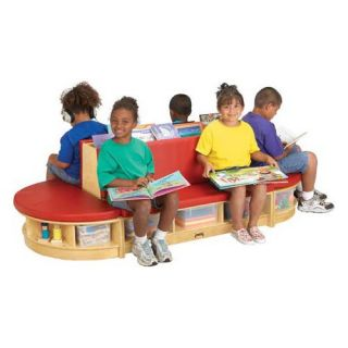 Jonti Craft Kydz Read A Round 3 Piece Sectional Bench Set   Kids Benches