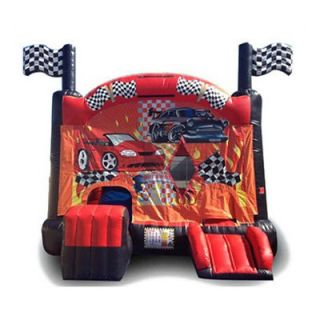 EZ Inflatables Digital Race Car Combo Bounce House   Commercial Inflatables