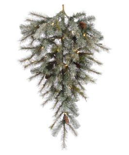 Vickerman 48 in. Pre Lit LED Frosted Sartell Teardrop   Christmas Swags